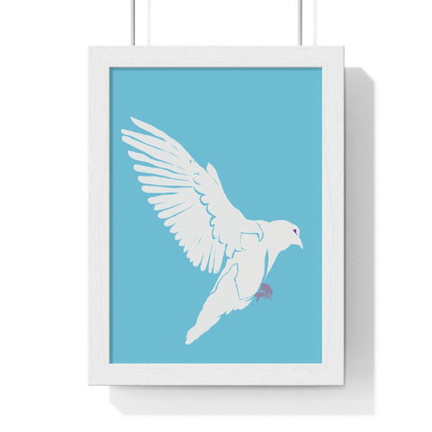 Dove of Peace - Premium Framed Vertical Poster