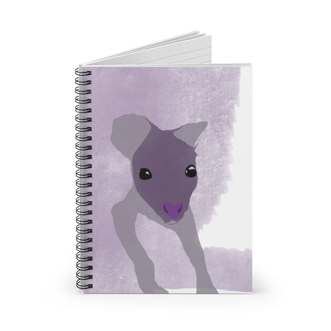 Baby Kangaroo - Spiral Notebook - Ruled Line