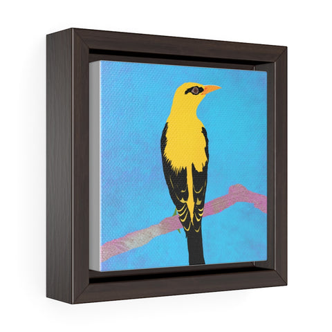 Bird - Square Framed Premium Gallery Wrap Canvas