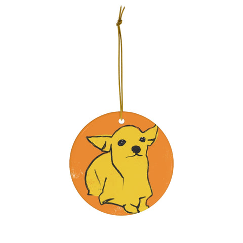 Chi the Chihuahua - Ceramic Ornaments