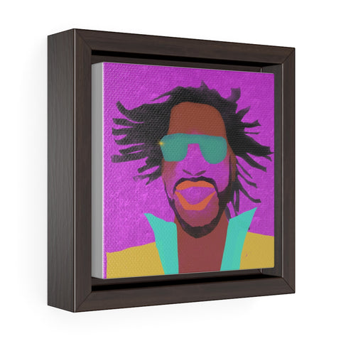 Male Face - Square Framed Premium Gallery Wrap Canvas