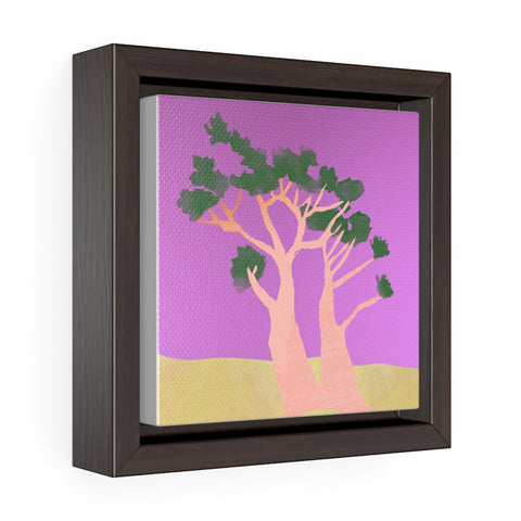 Tree - Square Framed Premium Gallery Wrap Canvas