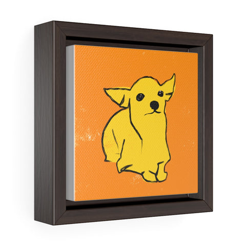 Chihuahua - Square Framed Premium Gallery Wrap Canvas