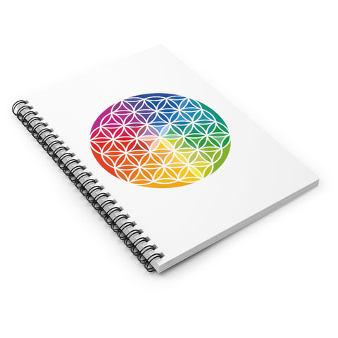 Flower of Life - Spiral Notebook - Ruled Line