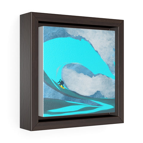 Surfing - Square Framed Premium Gallery Wrap Canvas