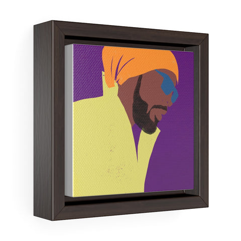 Face Profile - Square Framed Premium Gallery Wrap Canvas