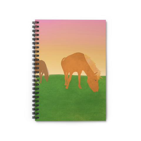 Horses - Spiral Notebook - Ruled Line