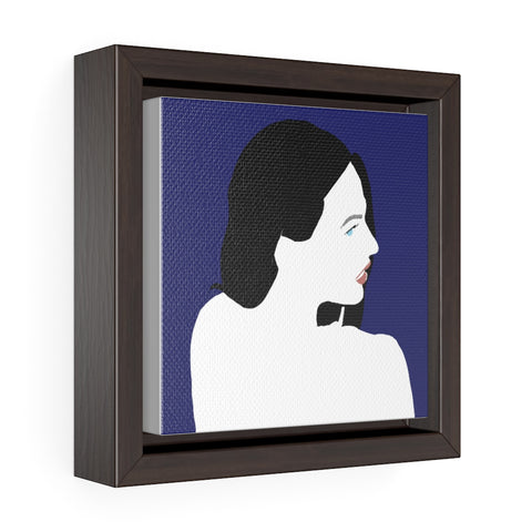 Female figure - Square Framed Premium Gallery Wrap Canvas