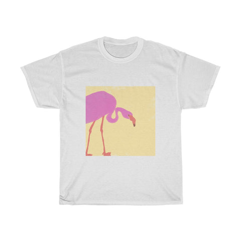 Flamingo Design - Unisex Heavy Cotton Tee