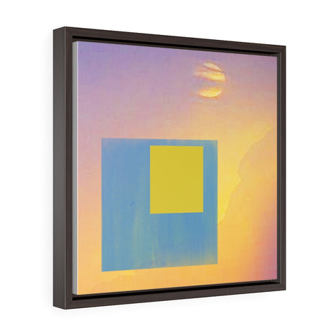 Abstract Collage - Square Framed Premium Gallery Wrap Canvas