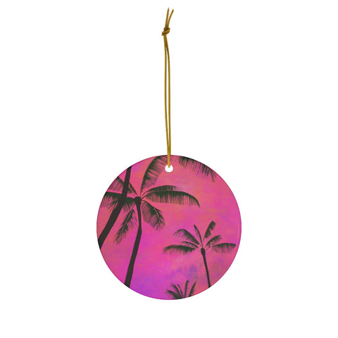 Tropical Palm Trees - Ceramic Ornaments