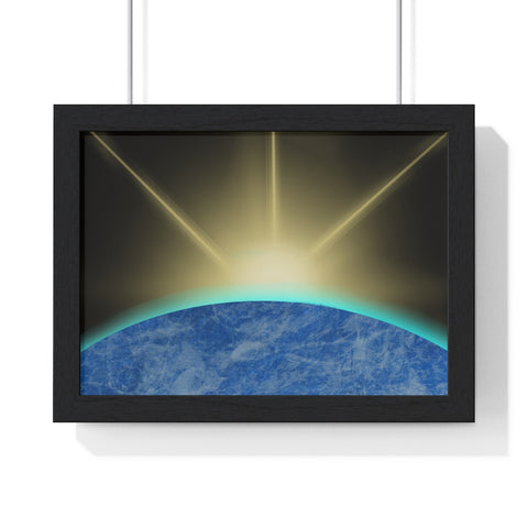 Sunrise from Space - Premium Framed Horizontal Poster