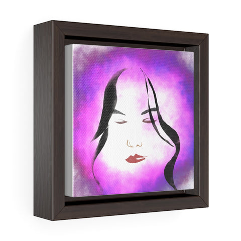 Female Face - Square Framed Premium Gallery Wrap Canvas