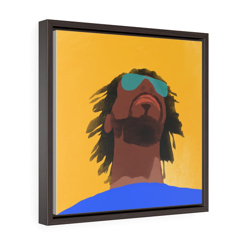 Face - Square Framed Premium Gallery Wrap Canvas