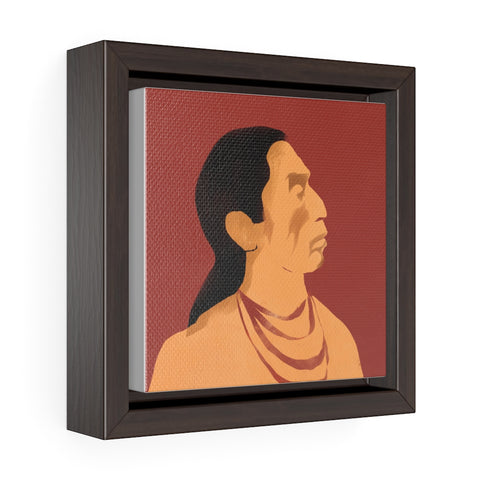 Indigenous Profile - Square Framed Premium Gallery Wrap Canvas