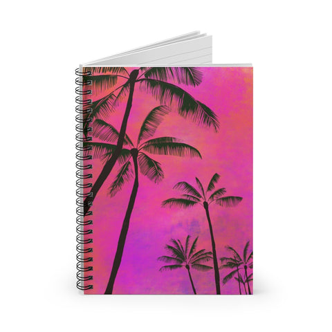 Palm Trees - Spiral Notebook - Ruled Line
