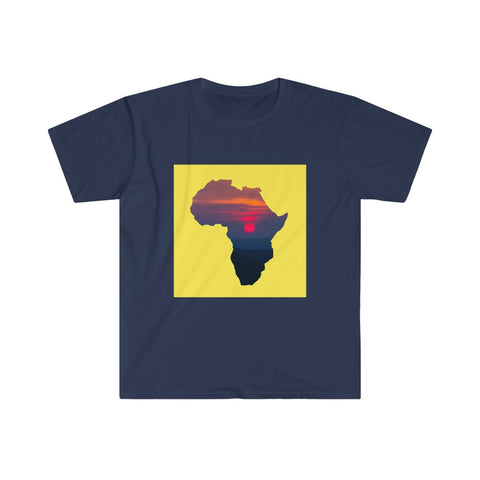 Africa - Men's Fitted Short Sleeve Tee