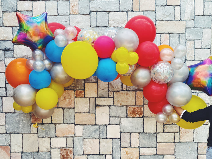 Mini Balloon Garland - Rainbow (XL)