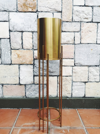 Metal Pot on Stand - Gold (S) - WhichKraft Projekt