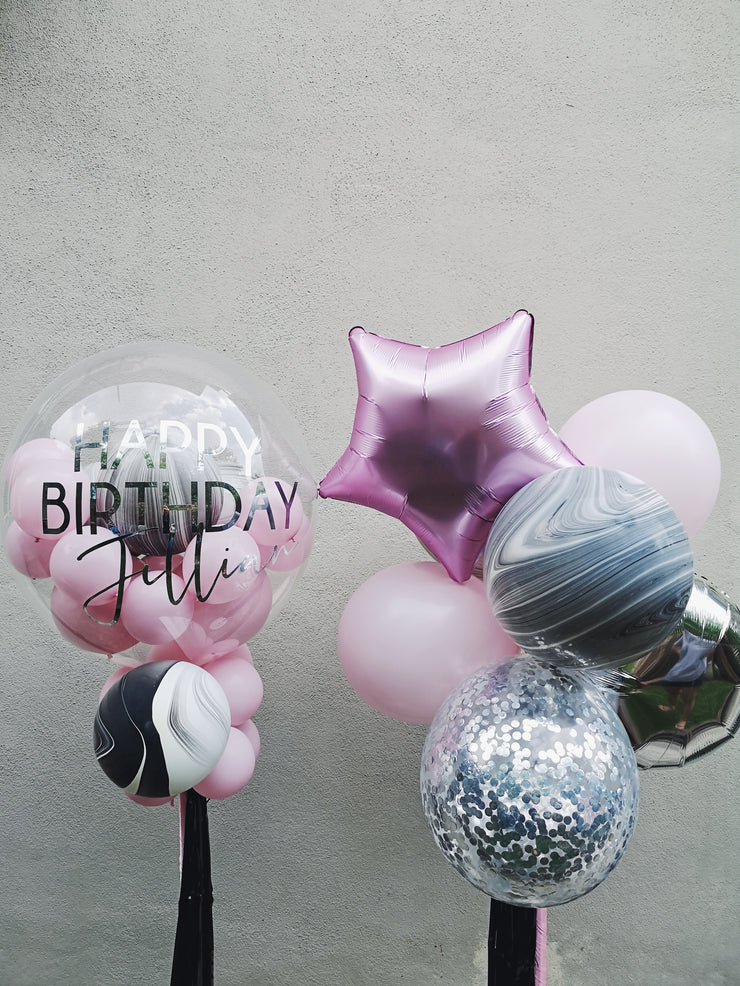 Marble + Pink Balloon Combo - WhichKraft Projekt