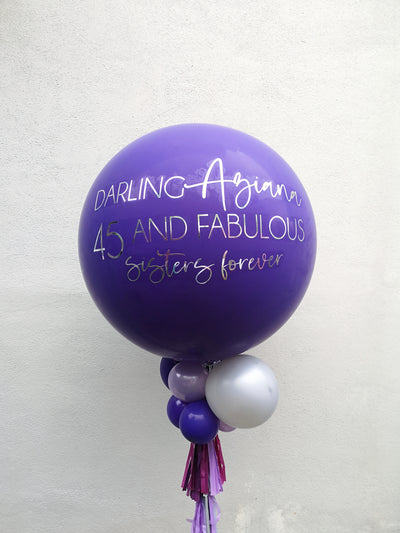 Jumbo Latex Balloon - Dark Purple - WhichKraft Projekt