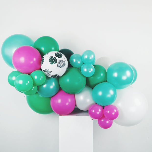 MINI BALLOON GARLAND - TROPICAL + FUCHSIA