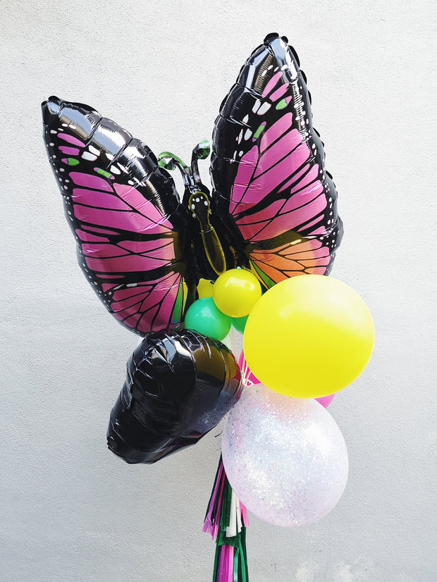 JUMBO BUNCH - BLACK + FUCHSIA BUTTERFLY - WhichKraft Projekt