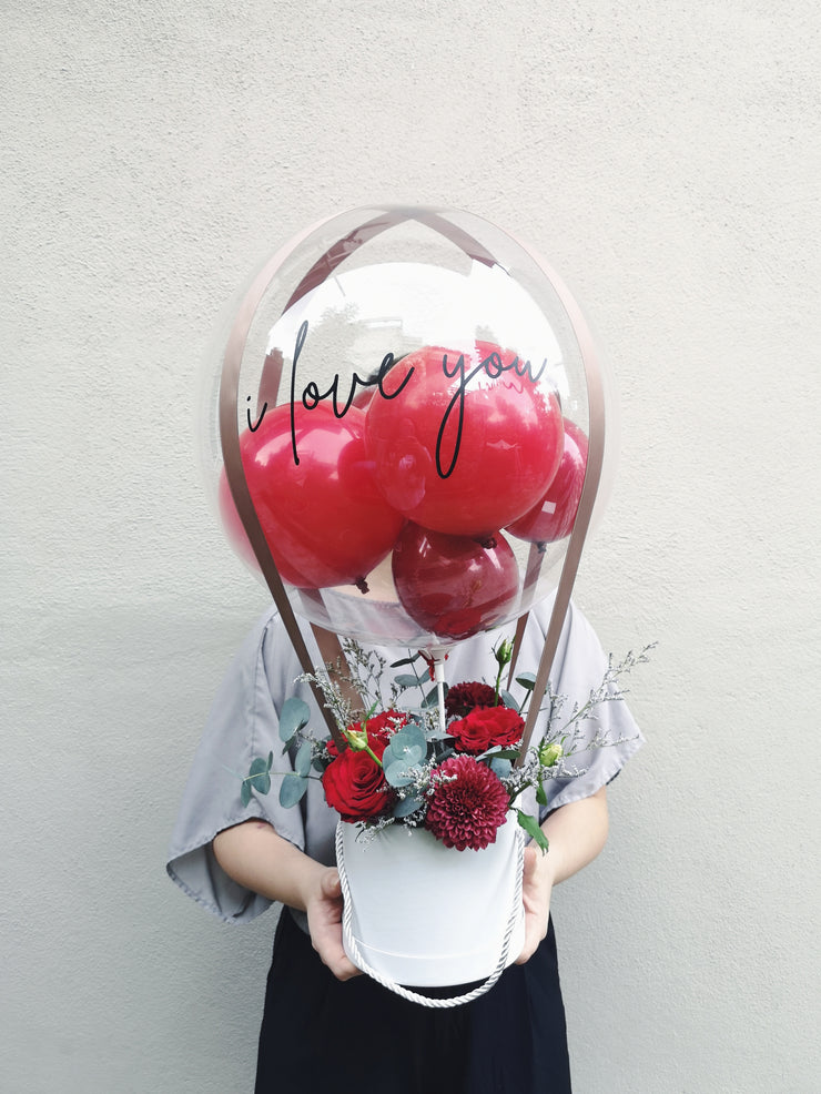 Hot Air Balloon Bouquet - Red
