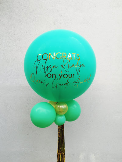 Jumbo Latex Balloon - Wintergreen