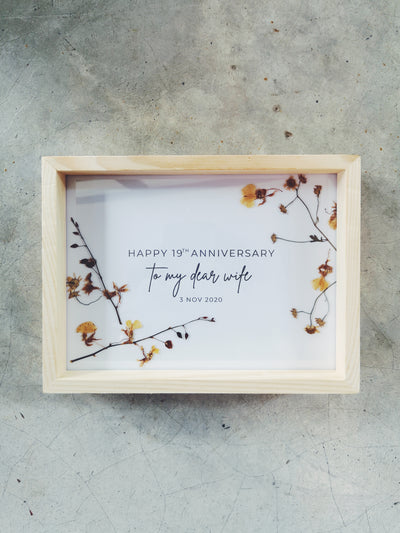 Pressed Flowers in Frame (card)
