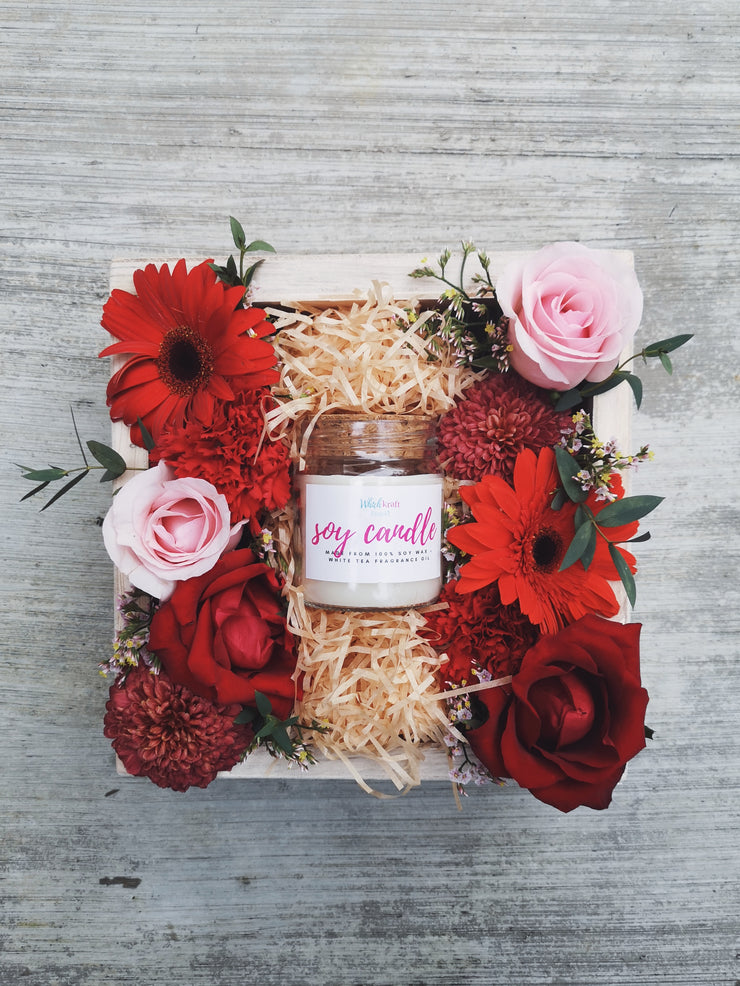 Flower Box - Scented Soy Candle