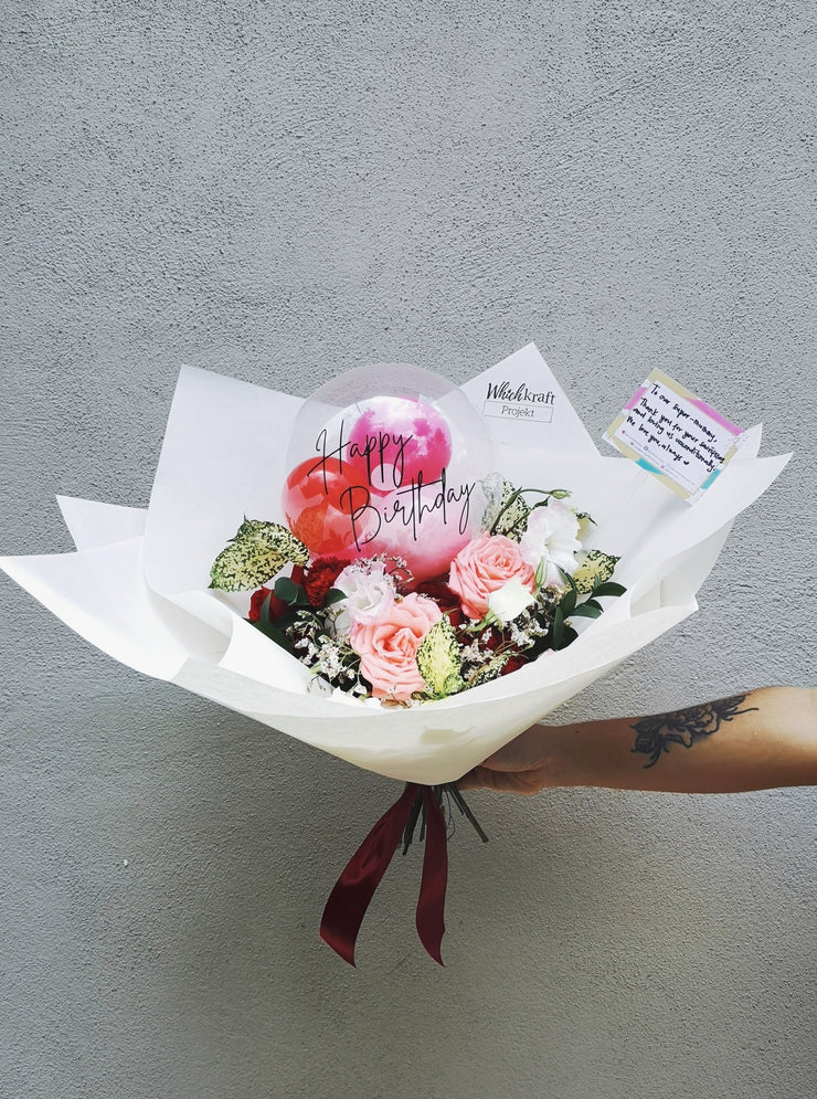 Bubble Bouquet - Red & Pink