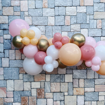Mini Balloon Garland - Pink, Blush & Gold