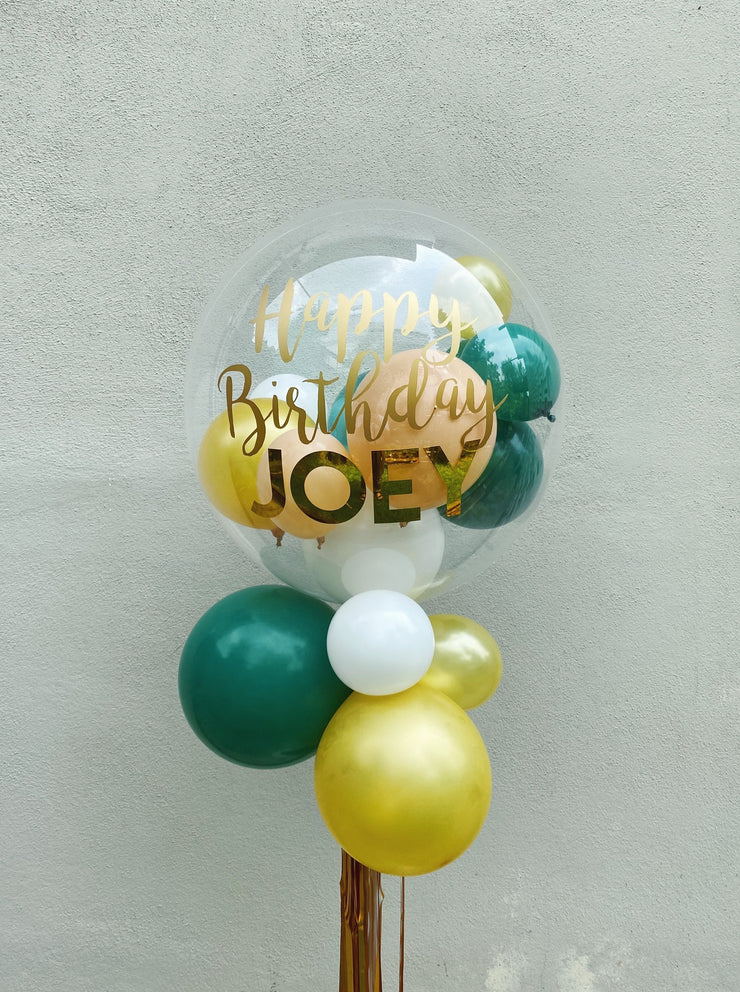 Bubble Balloon - Green & Gold