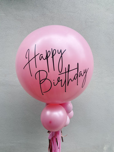 Jumbo Latex Balloon - Luxe Satin Pink