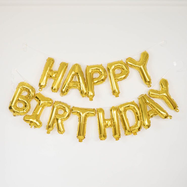 Happy Birthday Foil Garland - Gold - WhichKraft Projekt
