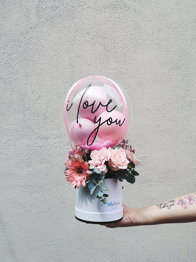 Mini Hot Air Balloon Bouquet - Pink