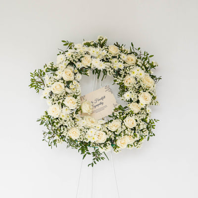 CONDOLENCE FLOWER WREATH