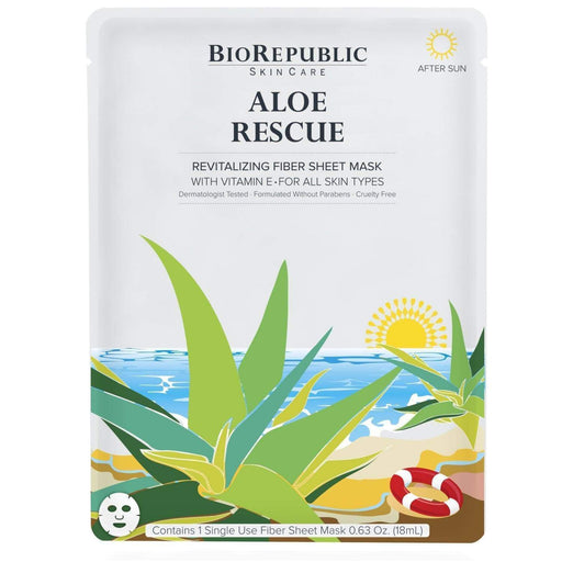 Face Mask Aloe Rescue BioRepublic SkinCare Fiber Sheet Mask Leesi B.