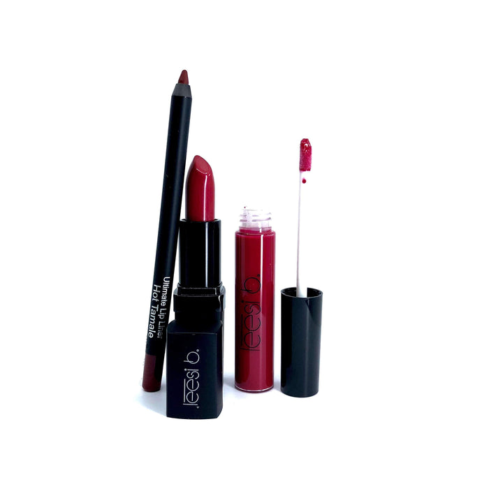 Kit RED HOT Holiday Lip Kit Leesi B.