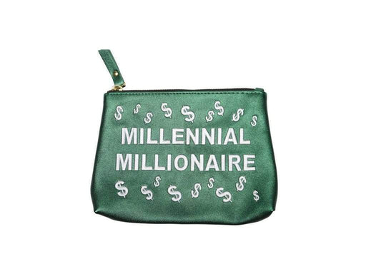 Makeup Bag MILLENNIAL MILLIONAIRE | Vegan Cosmetic Bag Leesi B.