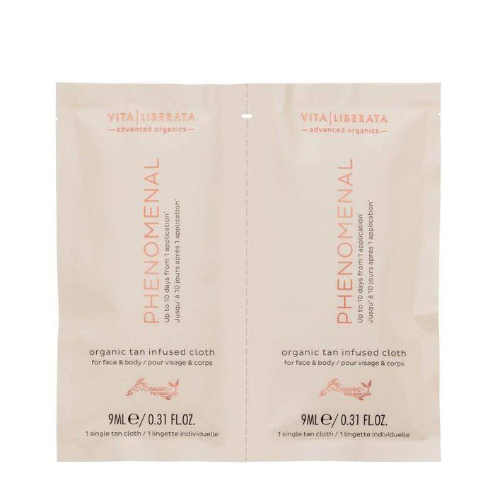 Bronzer Vita Liberata Phenomenal Organic Tan Infused Cloths 8 Pack Vita Liberata