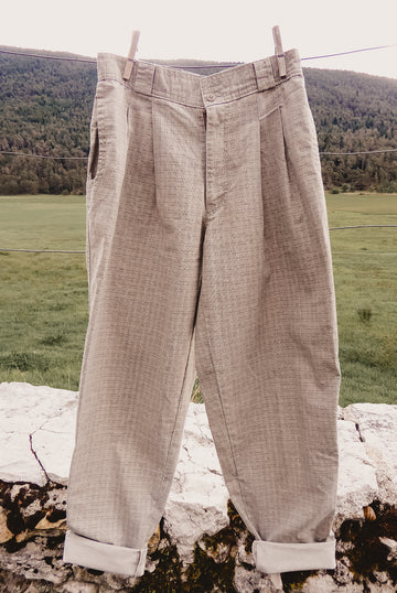 bugle boy twill pleated pants
