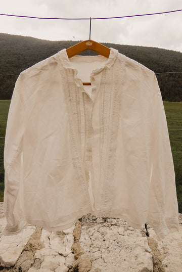 linen lace blouse