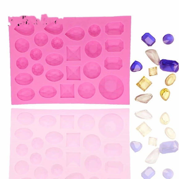 Gem Shapes Silicone Mold