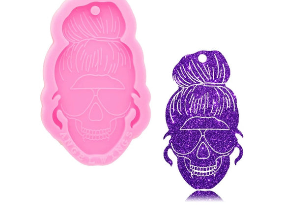 Women Skull Head Silicone Mold