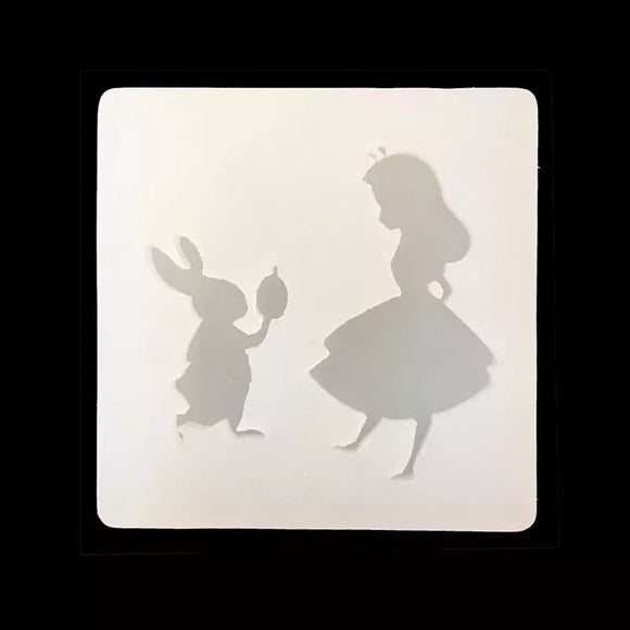 Alice in Wonderland and Rabbit Silicone Mold - SALE