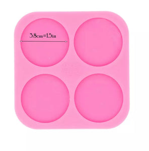 Medium circle stud silicone Mold
