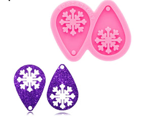 Medium Snowflake Earring Silicone Mold