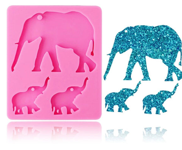 Elephant Family Silicone Mold